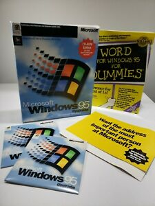 Windows 95 Upgrade Software Operating System open box sealed disks. Bundle
