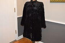 Vintage Black Sheared Beaver? muskrat? Fur Coat Jacket