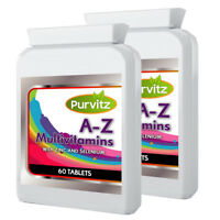Multi Vitamins and Minerals A-Z Tablets With Biotin & Selenium Made UK Purvitz