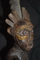 "orig $499 SONGYE RITUAL NIKISI FIGURE, copper strips EARLY 1900S REAL 16"" PROV."