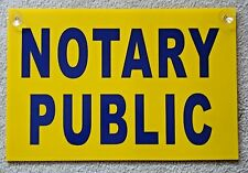 """NOTARY PUBLIC Coroplast SIGN with Suction Cups 12""""x18"""" Blue on Yellow"""