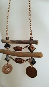 BRAND NEW * Handmade Drift Wood Copper Necklace Summer Holiday Jewellery