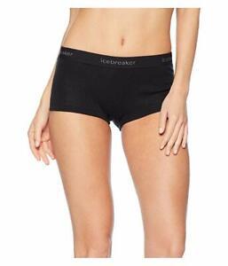 Icebreaker Women's Everyday Boyshort Panty in Black 11421 Size S