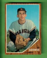 1962 TOPPS #569 ED SADOWSKI LOS ANGELES ANGELS SHORT PRINT HIGH NUMBER EX-MT