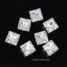 40pcs crystal Rhinestone 12x12mm sew on Square Fancy Stone dress/jewels diy Y-pk