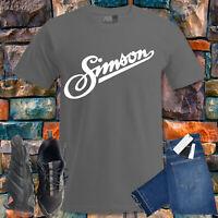 Simson Tuning Zubehör Fun T-Shirt ALTER MANN MIT Motorrad Teile s sr kr 50 51 4