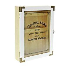 Key Box Storage Wood Wall Cabinet for Hallway Tidy Hooks Keys Organiser Kitchen