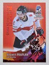 2017 BY cards IIHF WC Goal Scoring Leaders #15 Vincent Praplan #/20