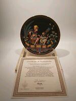 "Osiris Porcelain "" Tutankhamun And His Princess"" Collectors Plate, Boxed"