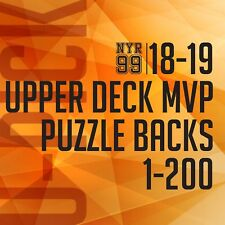 18-19 Upper Deck MVP Puzzle Back Parallel U-Pick from List #1-200