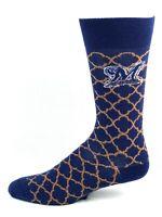 Milwaukee Brewers Navy Quatrafoil Crew Socks