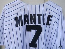 NEW YORK YANKEES MICKEY MANTLE # 7 PINSTRIPE  BASEBALL JERSEY SIZE XLG MAJESTIC