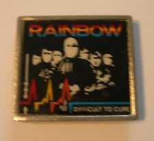 RAINBOW DIFFICULT TO CURE CONCERT TOUR BADGE 1981