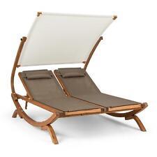 Blumfeldt Luxus Doppel Sonnenliege Sonnendach Kopfkissen Garten Terrasse Relax
