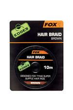 Fox Edges Hair Braid 10m Brown CAC565 Schnur Angelschnur Karpfenmontage