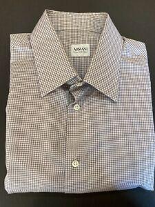 Armani Collezioni 100% Cotton Dress Shirt Men's 16.5 - 36/37 Checks