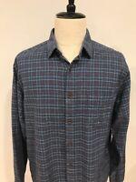 UnTuckit Mens 100% Cotton Heavyweight Flannel Plaid Shirt Size XL