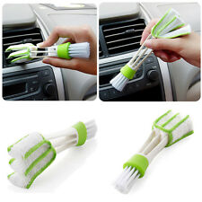 Mini Car Air Condition Outlet Gap Cleaner Dust Cleaning Fine Fiber Cloth Brushes