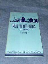 Walthers Model Railroad Supplies Catalog 1940 Toy Train Ephemera ~ O Gauge