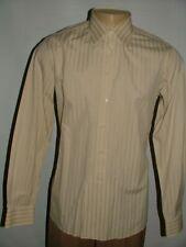 MEN FRAY FOR NEIMAN MARCUS DRESS SHIRT SIZE 16 35 BEIGE STRIPED #120