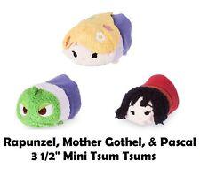 Disney Store Tangled Rapunzel Mother Gothel & Pascal Tsum Tsum Mini Plush A8 NWT