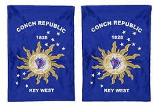 "12x18 12""x18"" Conch Republic Key West 2ply Nylon Sleeve Flag banner garden"