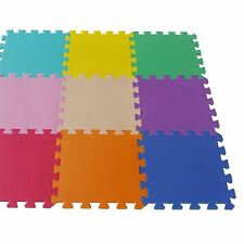 Interlocking Kids Children Soft Eva Foam Floor Play Activity Mat Tiles - 9 Pack
