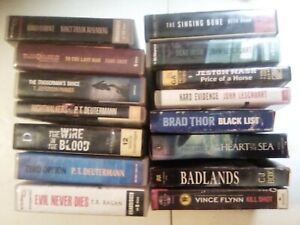 Lot of 15 Misc. Unabridged Fiction CD Audiobooks by popular authors