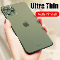 0.2mm ULTRA THIN Case For iPhone 11 Pro Max XS X Slim Matte Hard Back Cover Skin