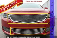 GTG 2014 - 2019 Chevy Impala 2PC Polished Custom Overlay Billet Grille Grill Kit