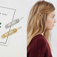 Chic Pin Shape Hair Clip Simple Metal Hairpins Hair Stick Women Hair Accessory*