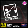 Baby Fishing On Board 128x110mm Funny Baby Boy Girl Dadlife Mumlife 4x4 Tackle
