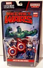Marvel Legends Series Shield-Wielding Heroes 2-Pack with Comic Book New MOSC