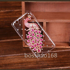 NEW Bling Diamonds Glitter Peacock Soft back clear Phone Covers Cases For Nokia