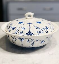"""Myott Finlandia Staffordshire Covered Serving Bowl Round 9.5"""" Wide X 5"""" Tall Lid"""