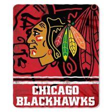"Chicago Blackhawks NHL Northwest 50""x60"" Fade Away Fleece Throw Blanket FREE"