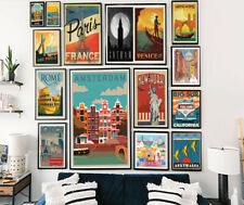 Vintage Travel Retro Posters Home Prints Art Tourism Holiday Decor CityA5 A4 A3