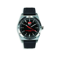 DUCATI CORSE POWER Uhr Quarz Armbanduhr Watch Silikon Armband schwarz NEU 2018