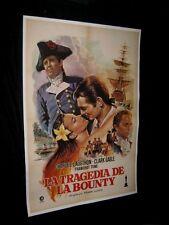 Orig MUTINY ON THE BOUNTY Linen Backed Spanish O/S CLARK GABLE Charles Laughton