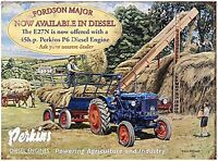 Fordson Major / Perkins metal sign (og 2015) REDUCED TO CLEAR-----------------