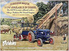 Fordson Major / Perkins large steel sign 400mm x 300mm (og)