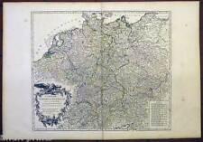 Deutschland - Germany - Karte-Map Vaugondy 1756 Carte de l'Empire d'Allemagne