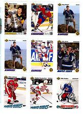 1991-92 UPPER DECK NHL HOCKEY KEY SINGLES & INSERTS U-PICK, NM/M