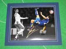 Shinji di Okazaki firmato & montato Leicester City 2015/16 GOL V Newcastle foto