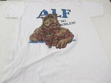 VTG 80s Alf No Problem TV Sitcom Thin T Shirt Tagged Tee Spring XL