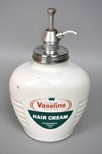 More details for mid 20th century vintage glass advertising vaseline hair cream dispenser (waf)