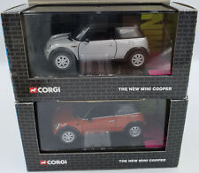 CARS : MINI COOPER DIE CAST MODEL 1:36 SCALE  MADE BY CORGI VARIOUS COLOURS (BY)