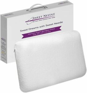 Memory Foam Pillow 60x40 cm- Ergonomic Sesign with Zippered Bamboo Pillowcase