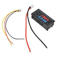 DC 100V 10A Voltage Current Meter 0.28'' inch Voltmeter Ammeter M4430 5V 12V 24V