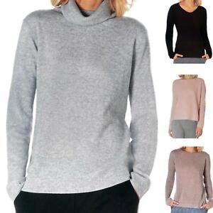 Damen Pullover  100% Kaschmir Wolle Strick Cashmere Pulli NEU 36 38 40 42 44 46